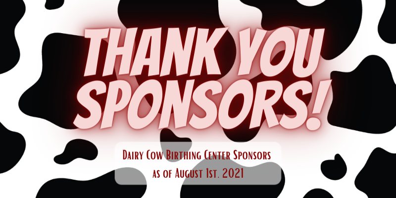 Image for 2021 NYS Fair Dairy Cow Birthing Center Sponsors!